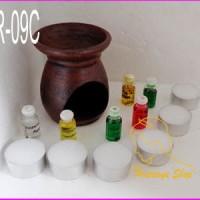 Jual Paket Aromaterapi 09C (1 tungku+6 lilin+6 essential oil 4,5ml) Murah