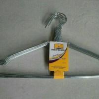10Pc Hanger Stainless Steel Gantungan Baju Metal Kuat Awet Tahan Lama