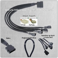 Kabel Fan Power IDE Molex 4Pin To 4slot X 4pin Connector
