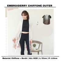 at890 embroiderry chiffone outer Murah