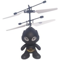 Mainan Helikopter Batman Drone Flying Toys - Hitam Diskon