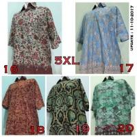 Jual Kemeja Pria Batik Jumbo Besar Ukuran 5XL (Seri 4) Murah