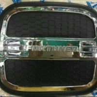 TANK COVER TUTUP TANGKI BENSIN LUXURY BLACK HITAM ALL NEW FORTUNER VRZ