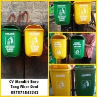 Tong Sampah Fiber Oval 2 in 1