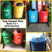 Tong sampah fiber 2 in 1
