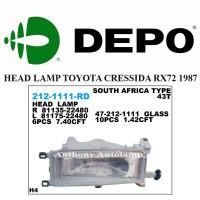 LAMPU DEPAN TOYOTA CRESSIDA RX72 1987 1 SET
