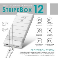 Jual UNEED StripeBox 12 Powerbank 12000mAh Polymer Battery - Real Capacity Murah