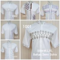 Baju Koko Lengan Pendek High Quality Kemeja Muslim Ramadhan katun
