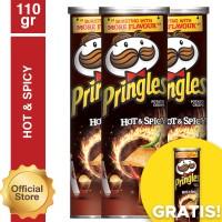 [Buy 3 Get 1] Pringles Hot & Spicy 110gr (As4-PE11010-8886467100055)