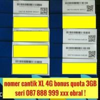 nomor cantik XL combo 4G kartu perdana bonus quota 3GB