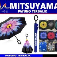 Jual PAYUNG TERBALIK MOTIF UNIK / Payung Kazbrella / Payung Mitsuyama Murah