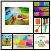 Jual Pasir Kinetik Kursi Set Mainan Anak Kinetic Sand Set Termurah Murah