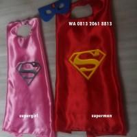 Jual SUPERGIRL   Topeng/mask Jubah/capes Kostum Superhero Haloween Murah