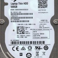 "HDD Seagate Momentus Thin Laptop 2.5"" 500GB Internal Harddisk"