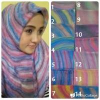 Segiempat Pelangi Hijab Segi Empat Gradasi Kerudung Segi4 Rainbow