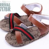PW71 - prewalker sepatu sandal guci tali coklat anak bayi baby shoes
