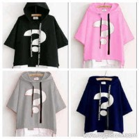 rr AWKARIN TOP 36.000 FIT TO L, BAHAN BABY TERRY COMBI SPANDEX