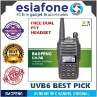 BAOFENG UVB6 Walkie Talkie / Radio HT BF-UV-B6 Alt UVB5 Original