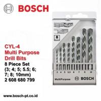 harga Cyl-4 Mata Bor Multipurpose Bosch 8 Pcs (3; 4; 5; 5.5; 6; 7; 8; 10mm) Tokopedia.com