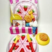 Mainan Anak Perempuan Kue Potong Masak Masakan Es Krim Strawberry