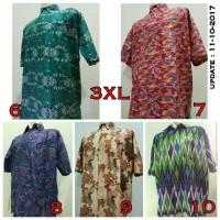 Jual Kemeja Pria Batik Jumbo Besar Ukuran 3XL (Seri 2) Murah
