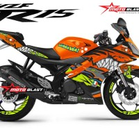 Decal Stiker Yamaha R15 AGV Shark Orange