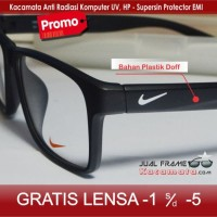 Jual Kacamata Nike + Lensa Minus/Baca Frame Pria/Cewek Kotak Korea Vintage Murah