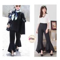 Jual Celana Panjang Hitam / celana flare / slit flare / modern cut bray 936 Murah