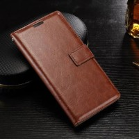 Leather FLIP COVER WALLET Samsung C5 - C7 PRO case bumper casing kulit
