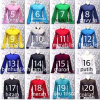 Jual Kaos Polo Shirt Polos / Kaos Kerah / Kaos Polo Lengan Panjang B Murah