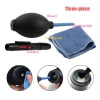 CLEANING KIT 3 IN 1 - CLEANING SET BLOWER - LENSPEN - CLEANING CLOTH