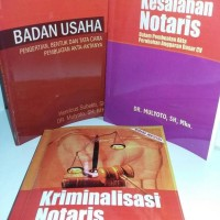 buku Badan usaha - Kesalahan notaris - kriminalisasi notaris barusegel