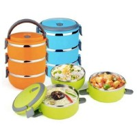 Jual Rantang 3 Susun Lunch Box Kotak Makan Eco Stainless 3 Warna Murah