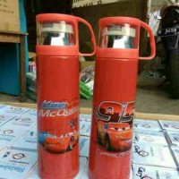 Thermos Stainless Steel Character Cartoon Lucu 500ML - Cars
