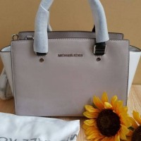 Tas Handbag BRAND MICHAEL KORS Selma Medium Denim Cement ORIGINAL