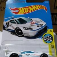 B0076-HOT WHEELS / HOTWHEELS-2016 FORD GT RACE-PUTIH