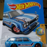S0003 - HOTWHEELS / HOT WHEELS - '71 DATSUN BLUEBIRD 510 WAGON - BIRU