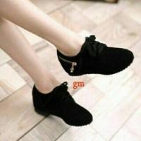 PB31 hitam sepatu kets casual boots flatshoes slip on fashion wanita af8589b964