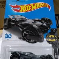 D0024-HOT WHEELS / HOTWHEELS-BATMAN VS SUPERMAN BATMOBILE-GREY