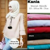 Kania Blouse / Top / Atasan Wanita / Kemeja Casual / Crop / Hijab Ootd