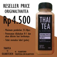 Jual Original Thai Tea (RESELLER) Murah
