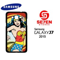 Casing HP Samsung J7 2015 Wonder woman retro Hero Custom Hardcase