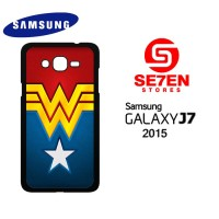 Casing HP Samsung J7 2015 Wonder Woman logo Custom Hardcase