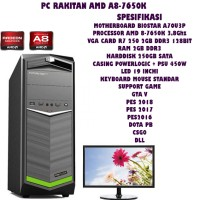 PC RAKITAN GAMING AMD A8-7650K KAVERI PAKET MONITOR LED 19INCHI