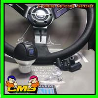 JUAL paket 2 in 1 paket Stir dan gear knob Racing Nardi torino 14 inch