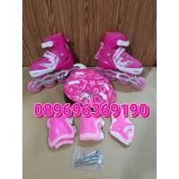 Jual sepatu roda anak fullset (body protecktor +helm) / inline skate Murah