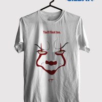 Kaos film it movie horror poster 2017 Original Gildan t shirt