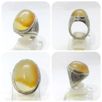Cincin Batu Akik Motif Ring Germanium AM65 Bukan Gelang Kalung