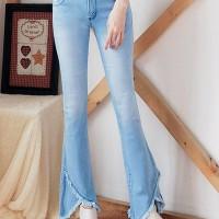 Jual Celana Cutbray Jeans Wanita Birumuda Triangle BB  Murah