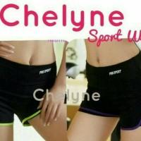 Celana sport pants pendek 2 lapis /celana senam / fitness / gym